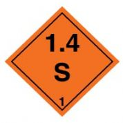 Hazard safety sign - Explosive 1.4S 027